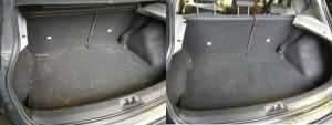 Nissan Qashqai Kofferraum vor und nach Reinigung