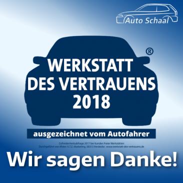 Autofahrer vertrauen Auto Schaal als ausgezeichnete Kfz-Werkstatt